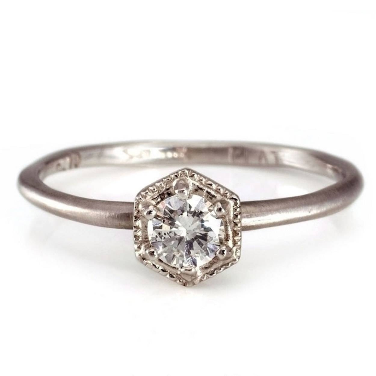 Affordable Engagement Rings Under $1,000 | Glamour Within Inset Engagement Rings (View 4 of 15)