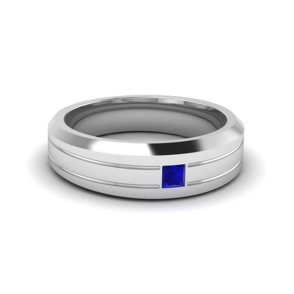 Affordable Wedding Bands For Him | Fascinating Diamonds Intended For Men's Wedding Bands With Sapphires (View 1 of 15)