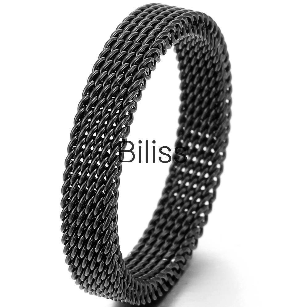 Aliexpress : Buy 1 Piece Black Stainless Steel Mens Women With Strongest Metal Wedding Bands (View 2 of 15)