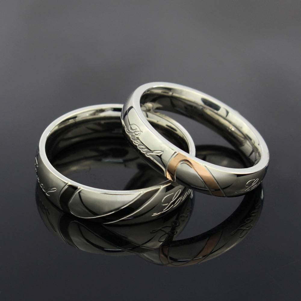 Aliexpress : Buy 1 Piece Romantic Stainless Steel Couple Intended For Puzzle Engagement Rings (View 6 of 15)