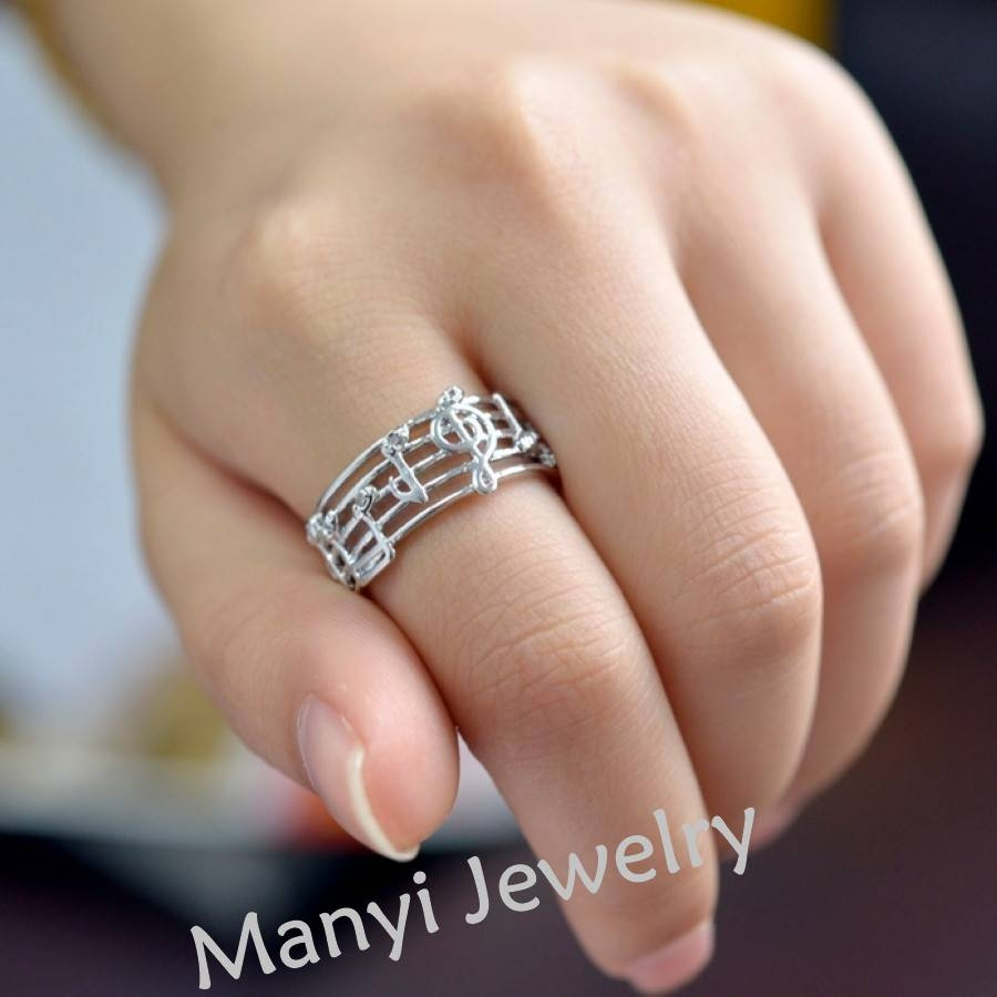 Aliexpress : Buy 2016 Hollow Music Design Girls Gold Silver With Regard To Music Wedding Rings (View 5 of 15)