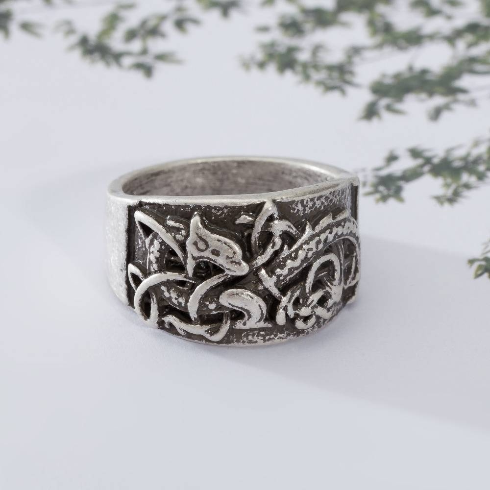 Aliexpress : Buy 20Pcs Retro Dragons Rings Symber Ring Viking With Norse Engagement Rings (View 2 of 15)