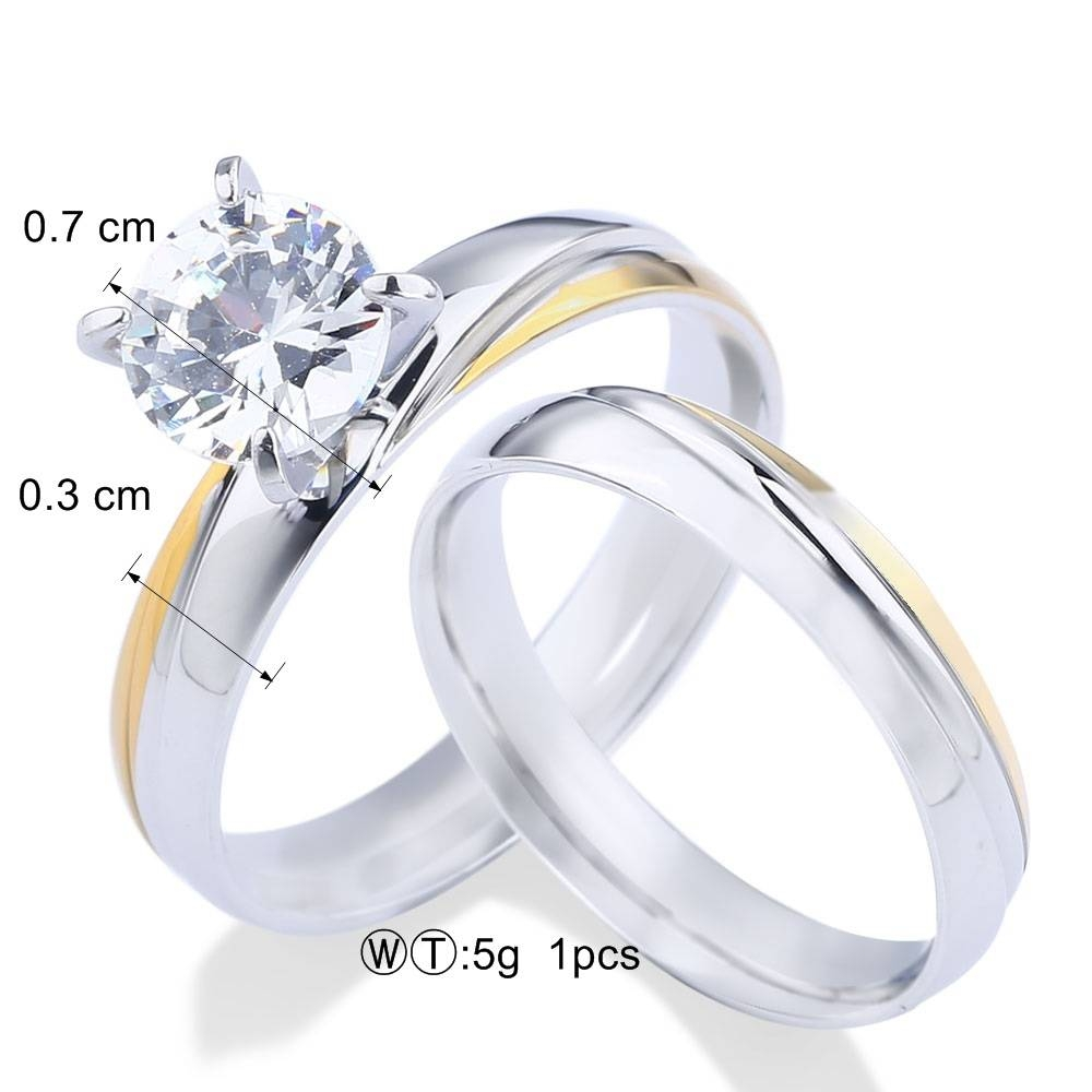 Aliexpress : Buy A&n Women's Fashion Engagement Wedding Rings For Engagement Rings Pair (View 2 of 15)