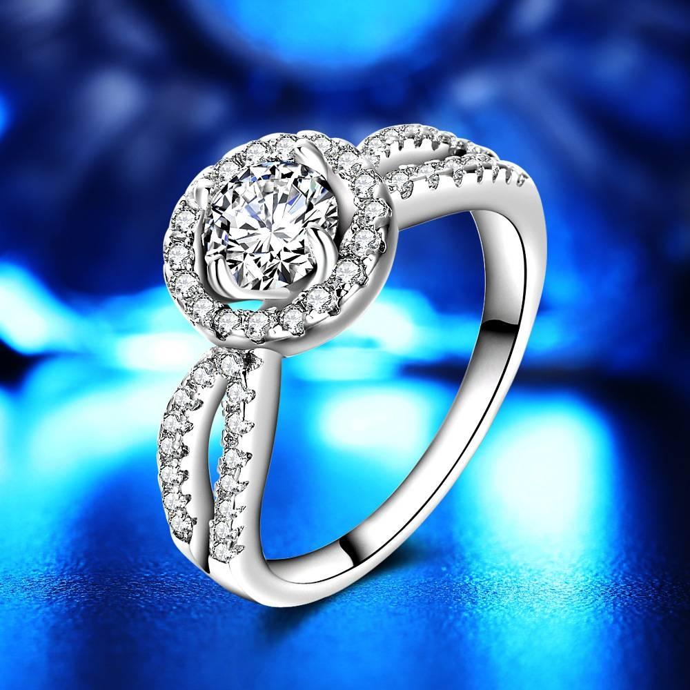 Aliexpress : Buy David Kabel Silver Female Engagement Ring Regarding Female Engagement Rings (View 4 of 15)