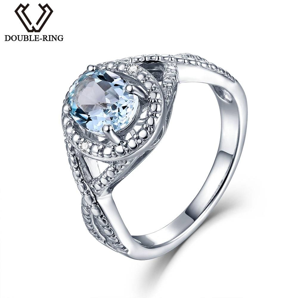 Aliexpress : Buy Double R Real Diamond Wedding Rings Female Regarding Real Diamond Wedding Rings (View 5 of 15)