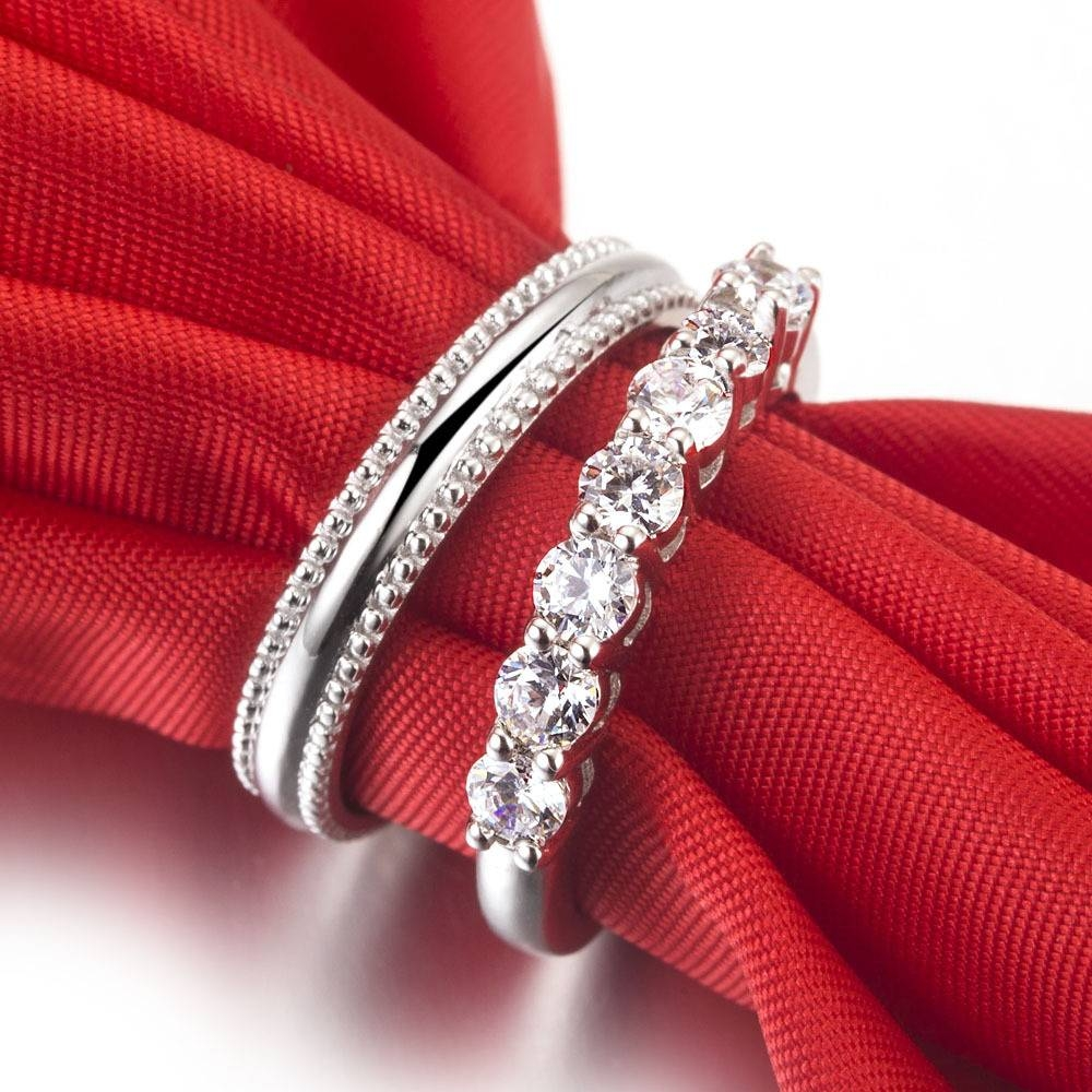 Aliexpress : Buy His And Her Propose Marriage Jewelry Couple Within Couple Rings For Engagement (View 1 of 15)