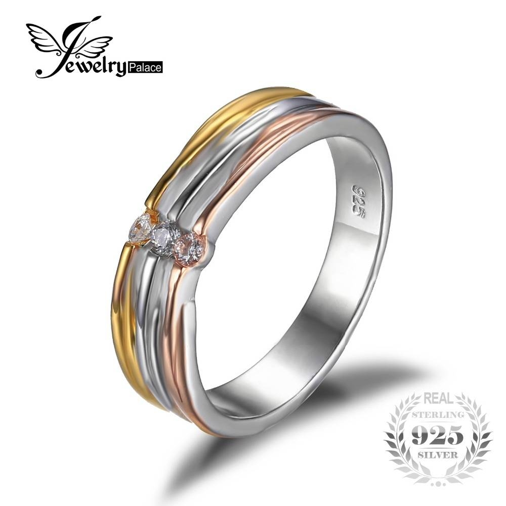 Aliexpress : Buy Jewelrypalace Anniversary Wedding Band Ring 3 Intended For 2 Band Wedding Rings (View 4 of 15)