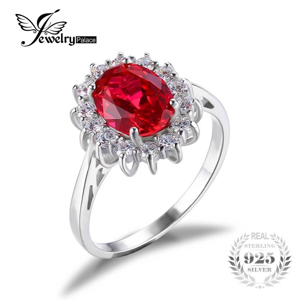 Aliexpress : Buy Jewelrypalace Princess Diana William Kate Intended For Ruby Engagement Rings For Women (View 13 of 15)