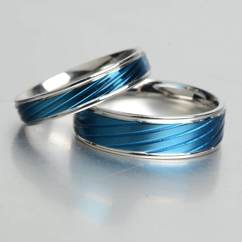 Aliexpress : Buy Keisha Lena Thin Blue Line Rings Men Intended For Thin Blue Line Wedding Bands (View 2 of 15)