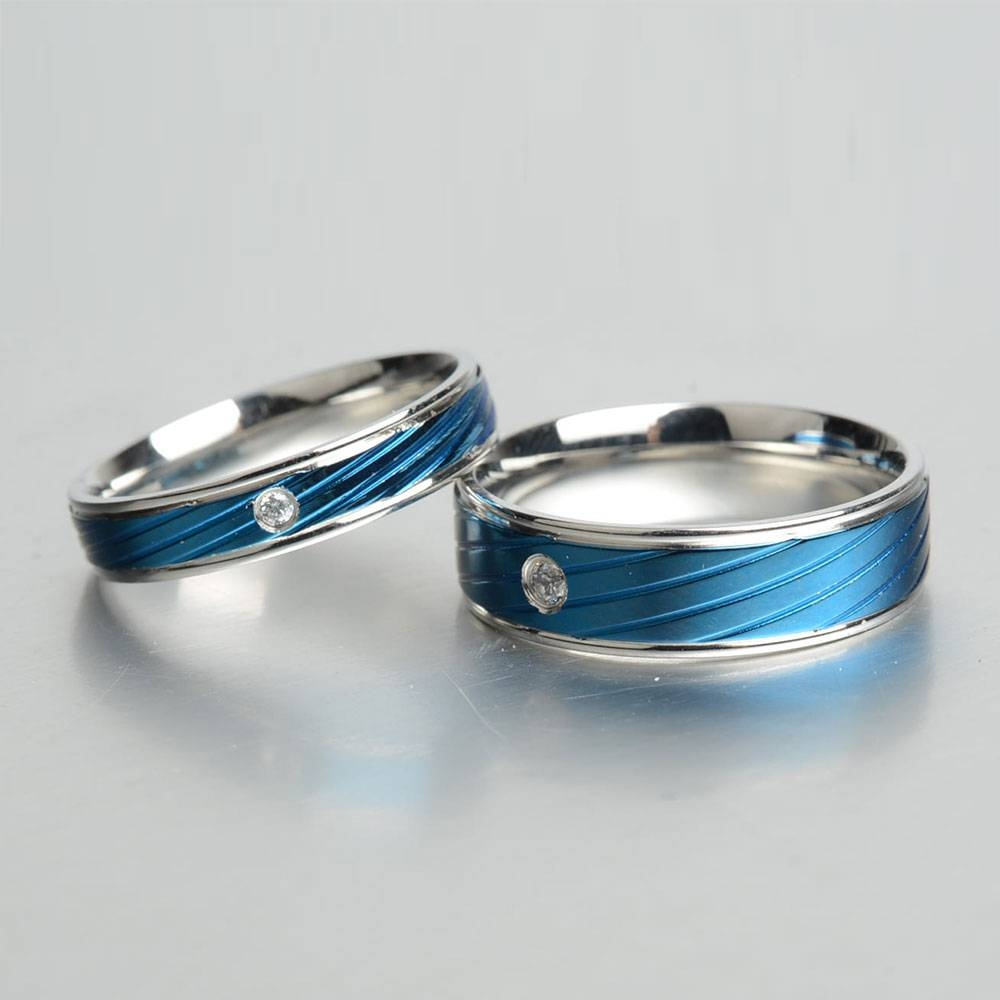 Aliexpress : Buy Keisha Lena Thin Blue Line Rings Men Pertaining To Thin Blue Line Engagement Rings (View 7 of 15)