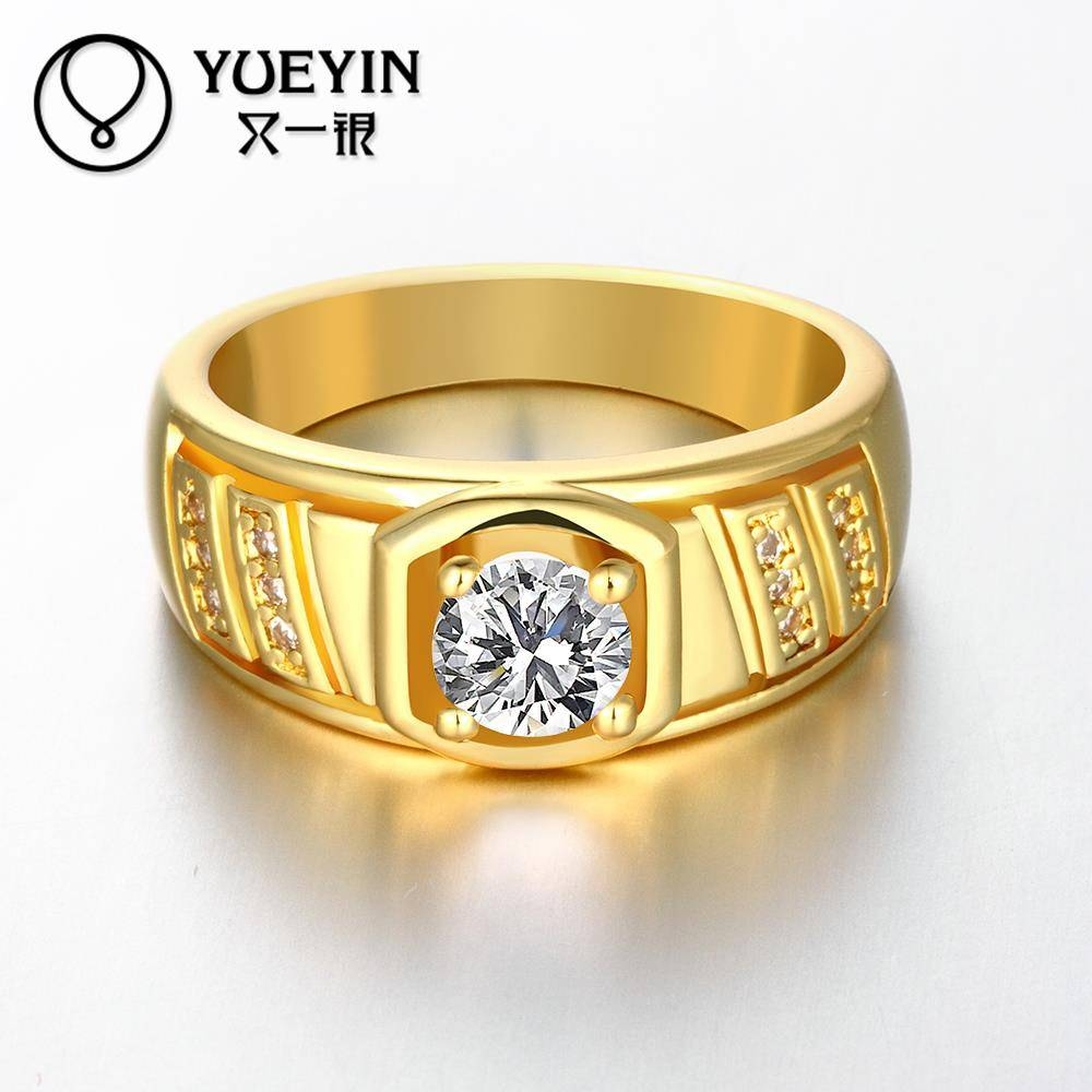 Aliexpress : Buy Newest Trendy Male Jewelry Crystal Rings In 24K Gold Wedding Rings (View 9 of 15)