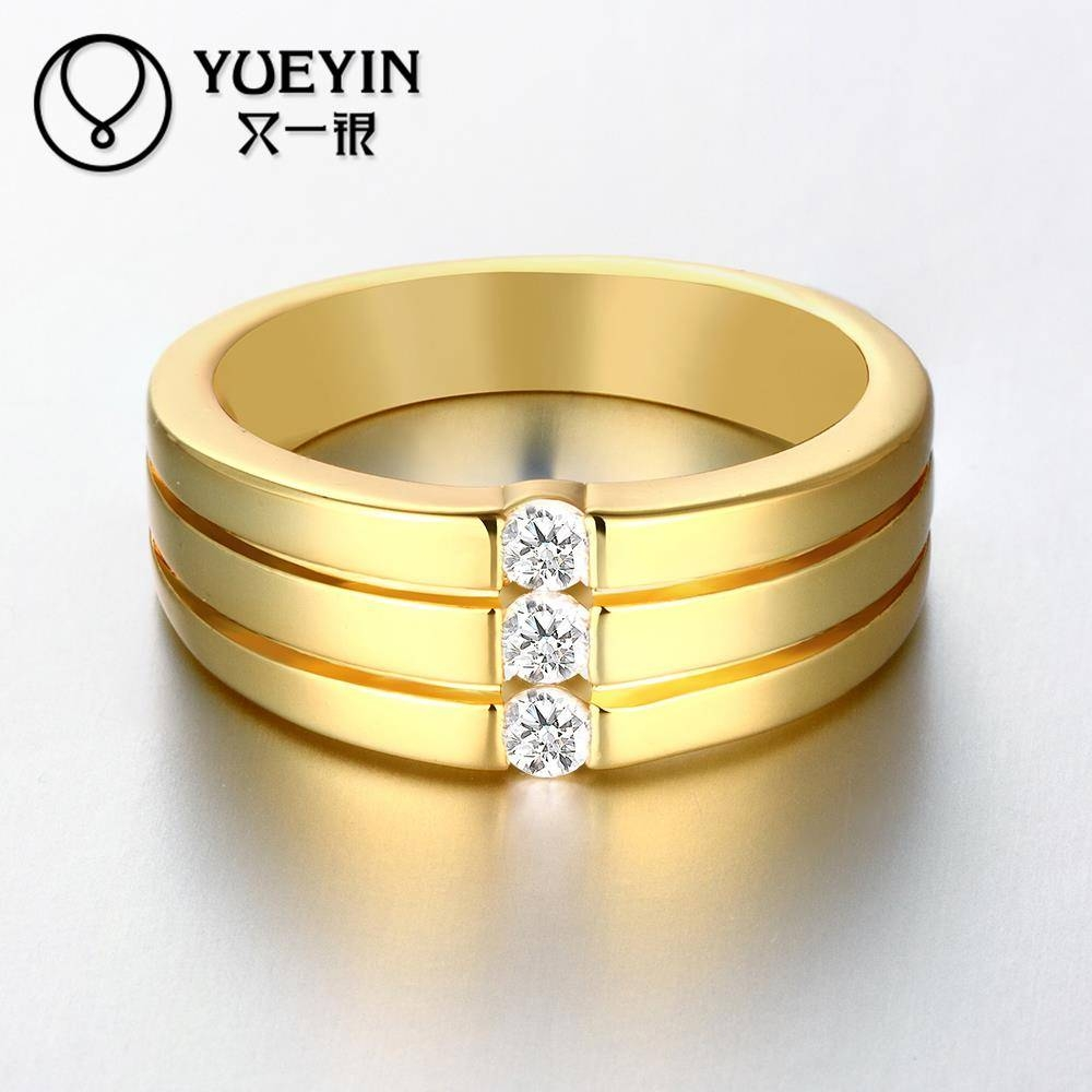 Aliexpress : Buy Newest Trendy Male Jewelry Crystal Rings Inside 24K Gold Wedding Rings (Gallery 7 of 15)