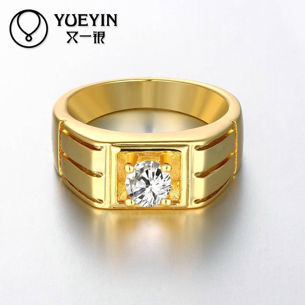 Aliexpress : Buy Newest Trendy Male Jewelry Crystal Rings With Gold Male Engagement Rings (View 2 of 15)