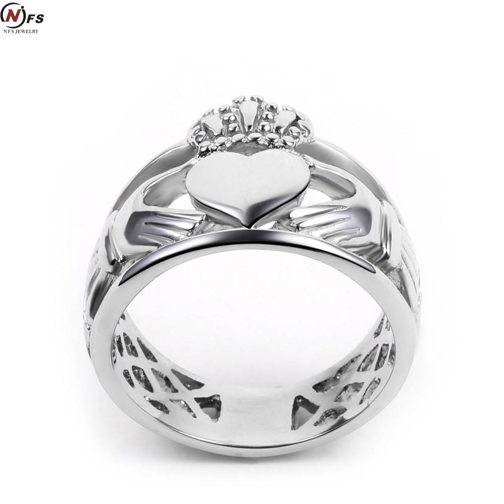 Aliexpress : Buy Nfs Love Hand Heart Queen Crown Rings Men Throughout King And Queen Engagement Rings (View 2 of 15)