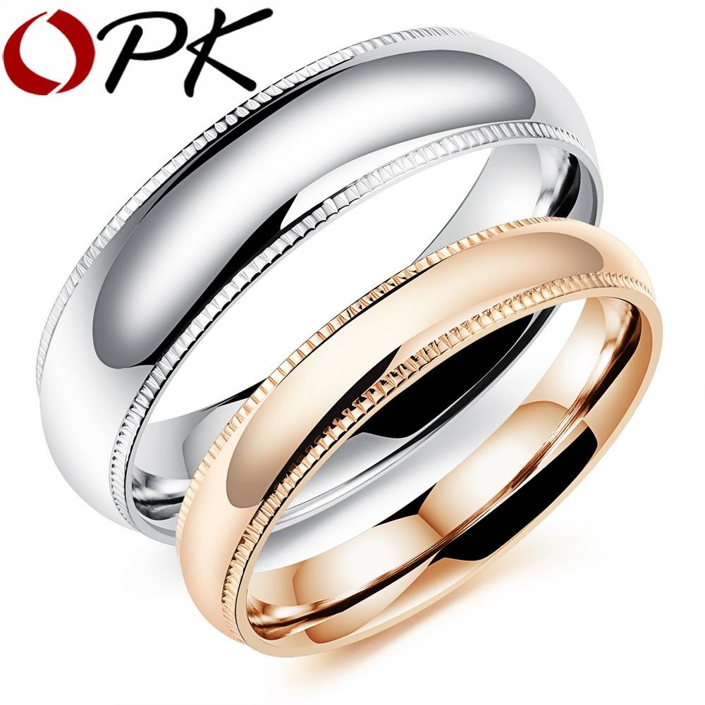 Aliexpress : Buy Opk Romantic Couple Rings Free Customized With Regard To Couple Rings For Engagement (View 3 of 15)