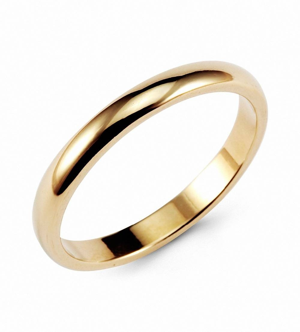 Aliexpress : Buy Queenwish Vintage Gold Color Classic Tungsten Regarding Classic Gold Wedding Rings (View 1 of 15)