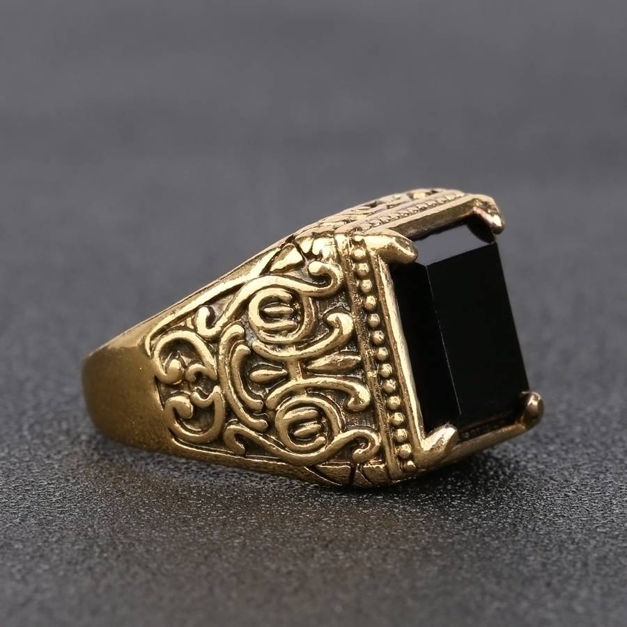 Aliexpress : Buy Retro Black Ring Classic Medieval Style Punk Inside Medieval Engagement Rings (View 2 of 15)