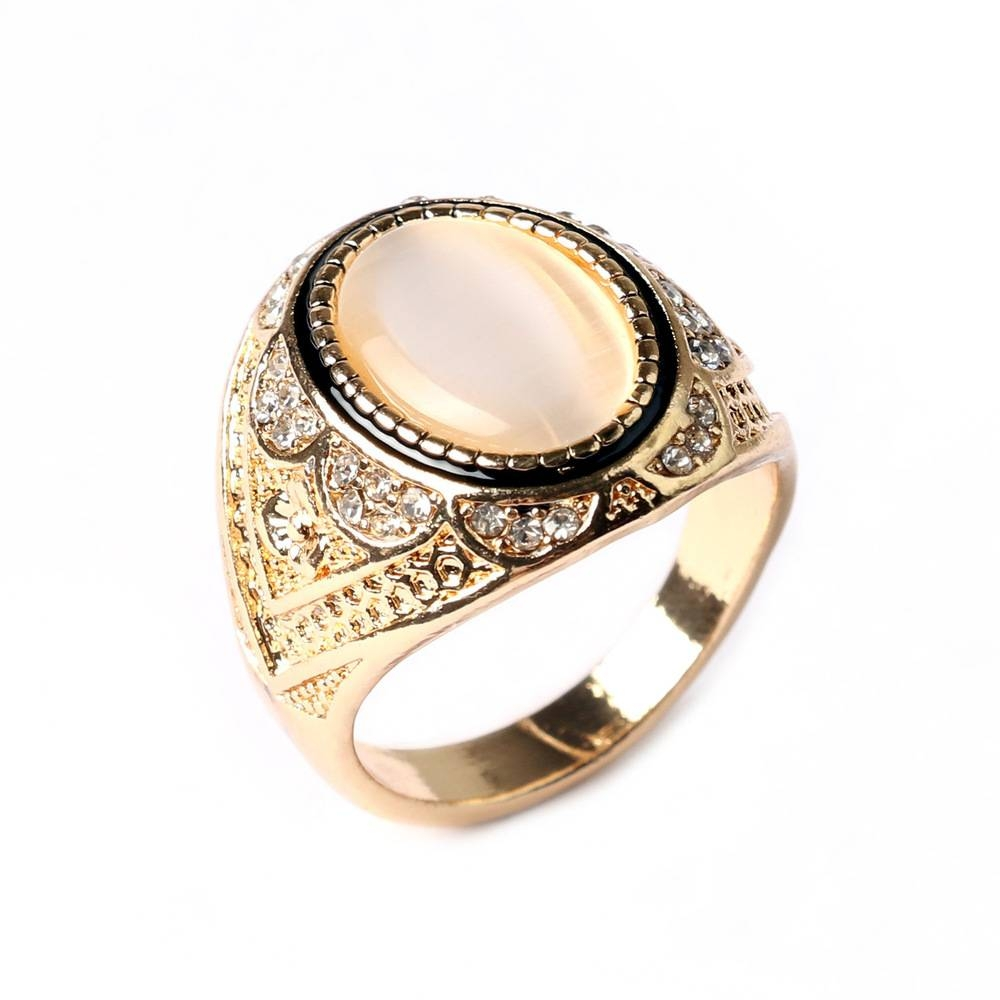 Aliexpress : Buy Retro White Stone Ring Gold Silve Plated Within Medieval Engagement Rings (Gallery 3 of 15)