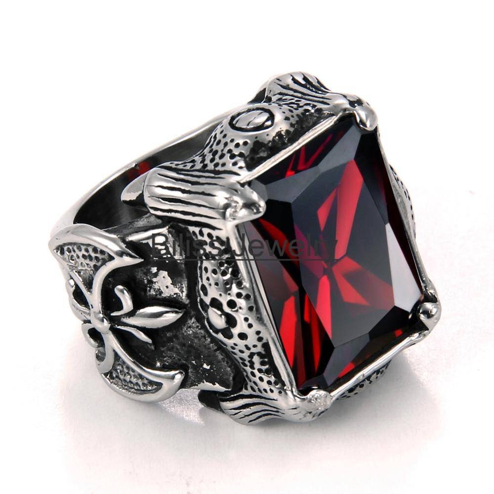 Aliexpress : Buy Vintage Style Stainless Steel Wedding Band With Black And Red Wedding Bands (View 2 of 15)