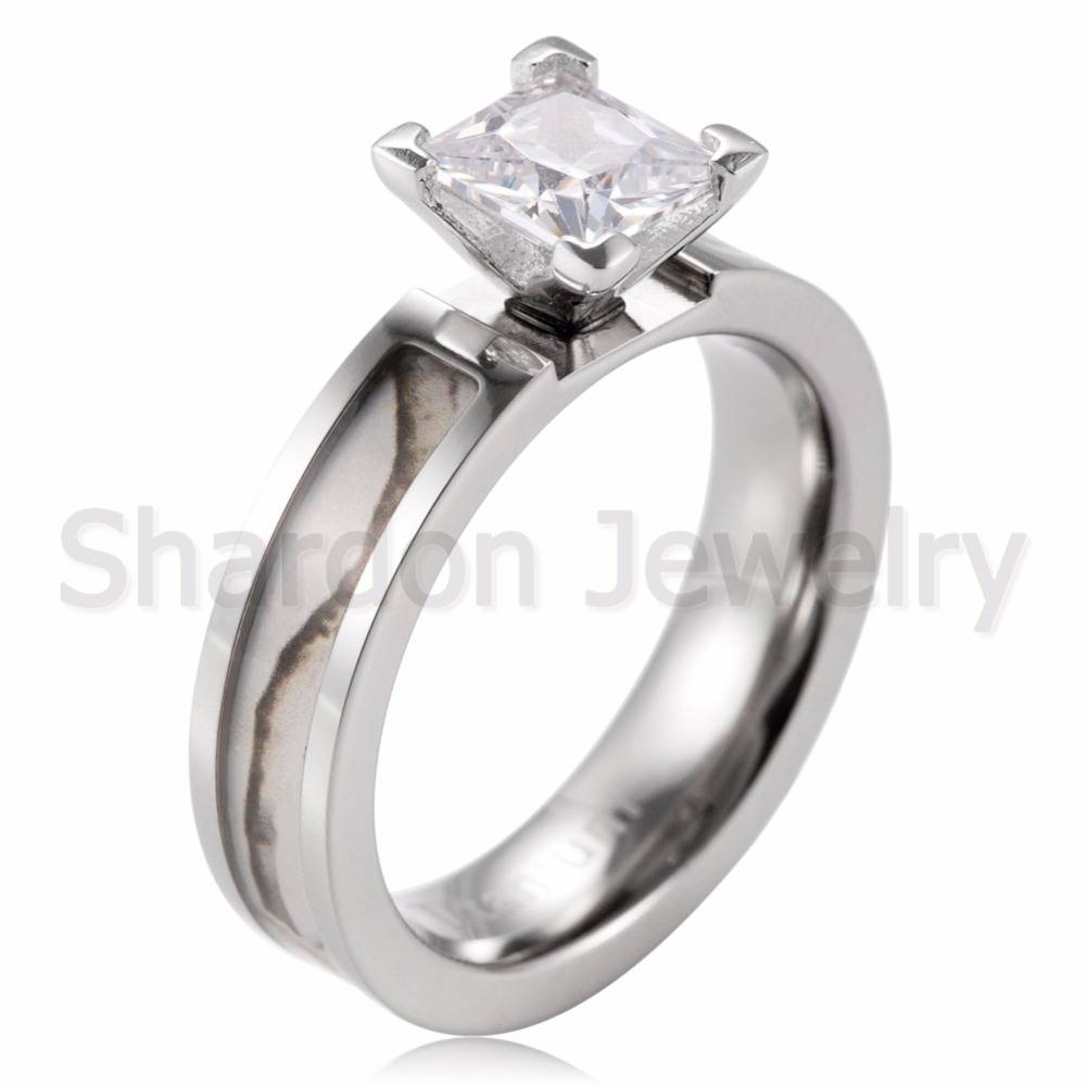Aliexpress : Buy Women White Camo Engagement Ring Titanium Throughout Tree Engagement Rings (View 2 of 15)