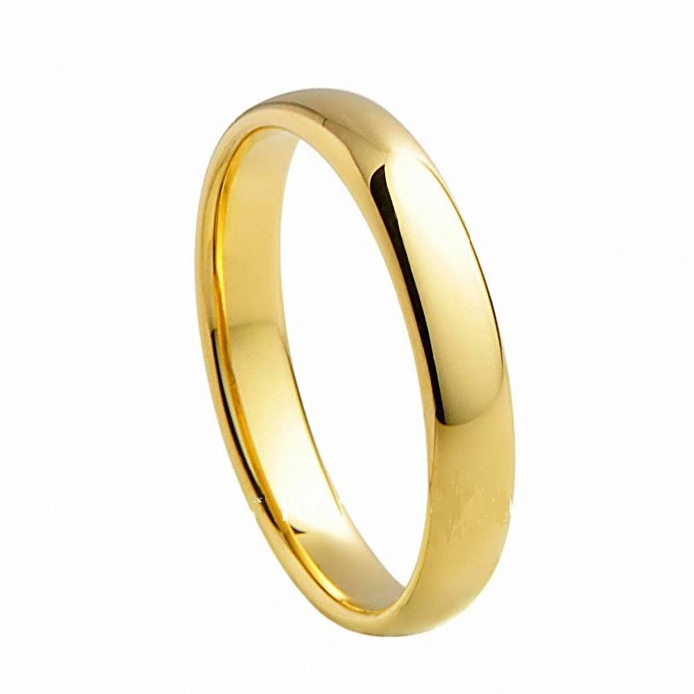 Aliexpress : Buy Yellow Gold Tungsten Carbide Rings For Classic Gold Wedding Rings (View 14 of 15)
