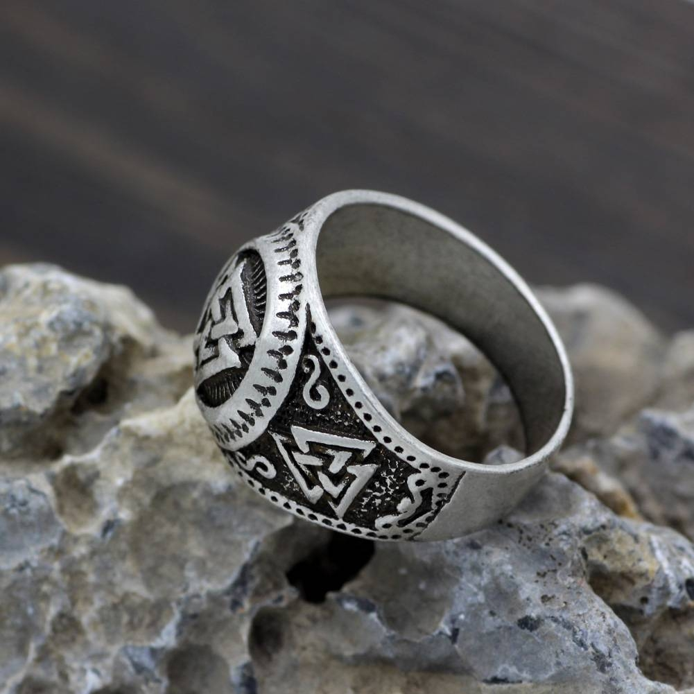 Aliexpress : Buy Youe Shone Ethnic Men Norse Viking Odin's For Wiccan Engagement Rings (View 4 of 15)