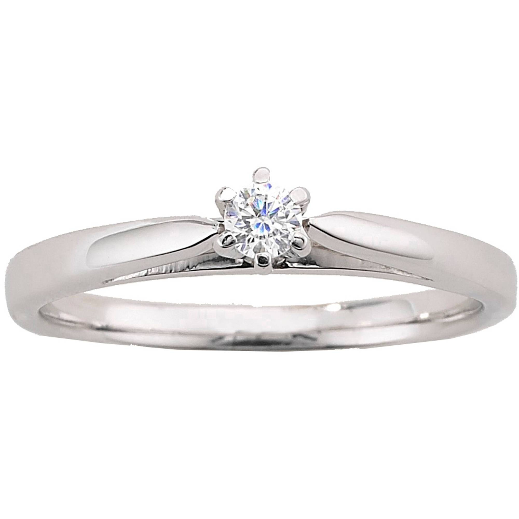 Always & Forever Platinaire 1/12 Carat Diamond Round Solitaire Regarding Walmart Engagement Rings (View 2 of 15)