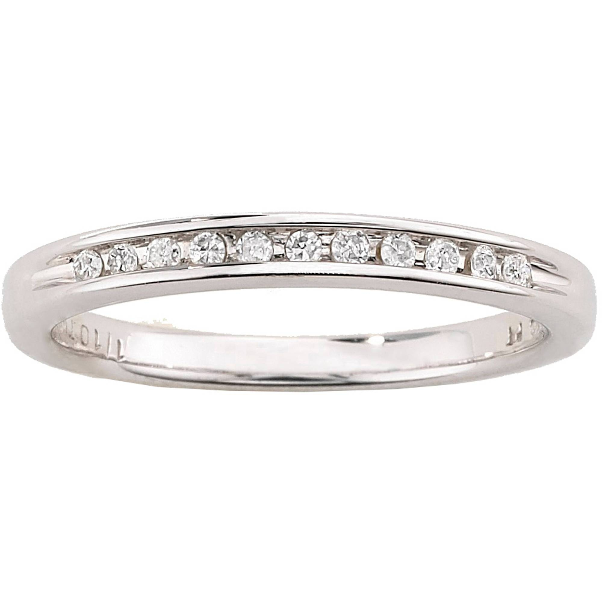Always & Forever Platinaire 1/12 Carat T.w. Diamond Wedding Band With Wedding Bands At Walmart (Gallery 1 of 15)