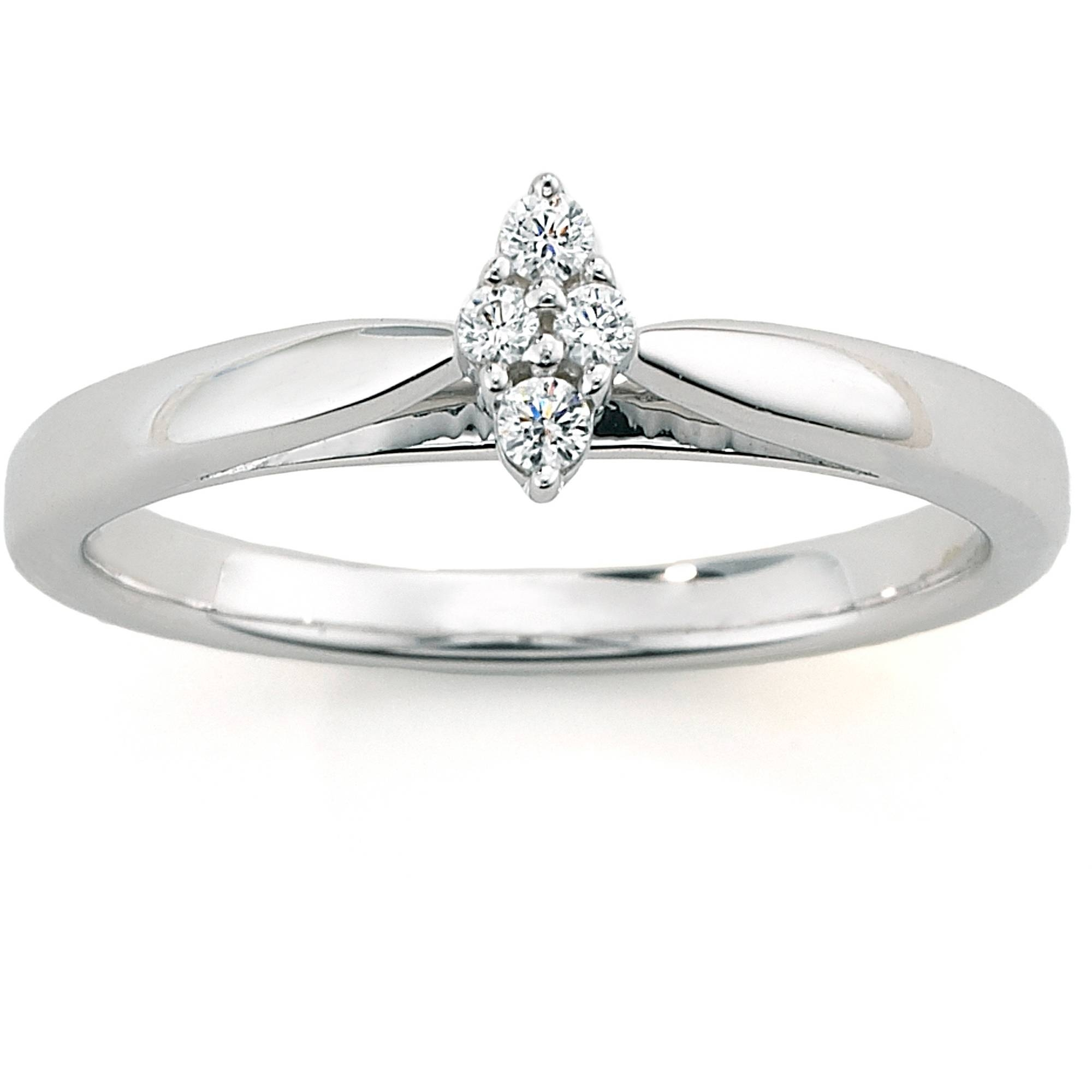 Always & Forever Platinaire Diamond Accent Cluster Marquise Shaped Within Walmart Engagement Rings (View 4 of 15)