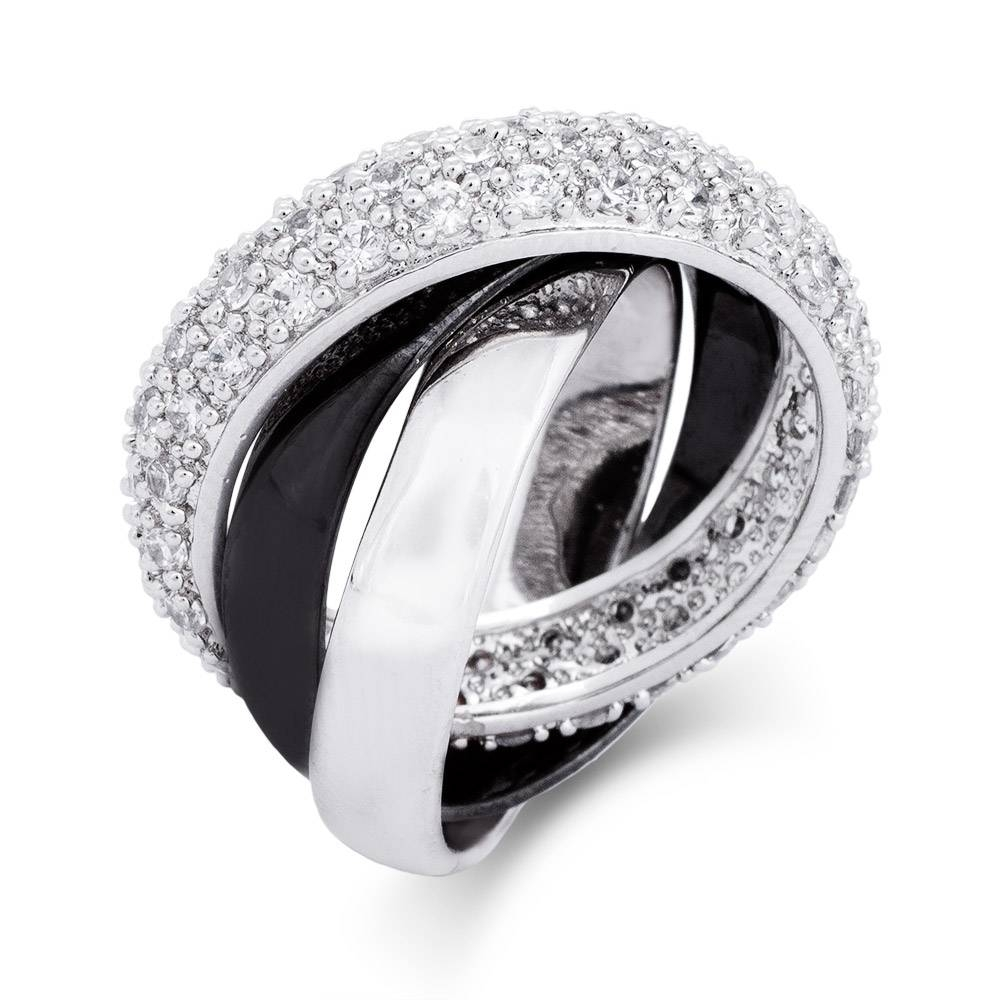 And Silver Triple Roll Cz Russian Wedding Ring | Eve's Addiction® For Russian Wedding Rings (View 5 of 15)