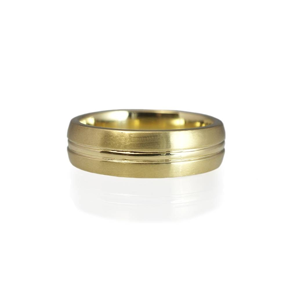 Andrew Men's Green Gold Wedding Ring Pertaining To Green Men's Wedding Bands (View 4 of 15)