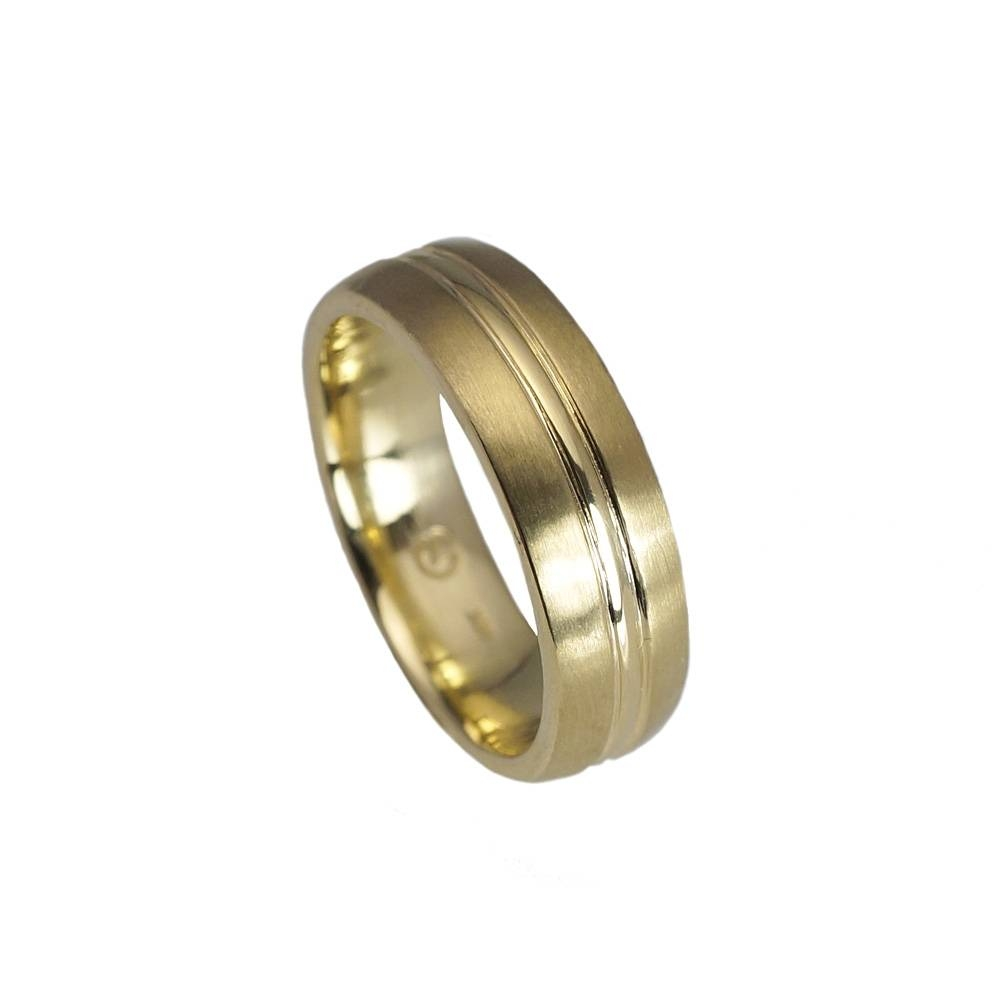 Andrew Men's Green Gold Wedding Ring Pertaining To Green Men's Wedding Bands (View 3 of 15)