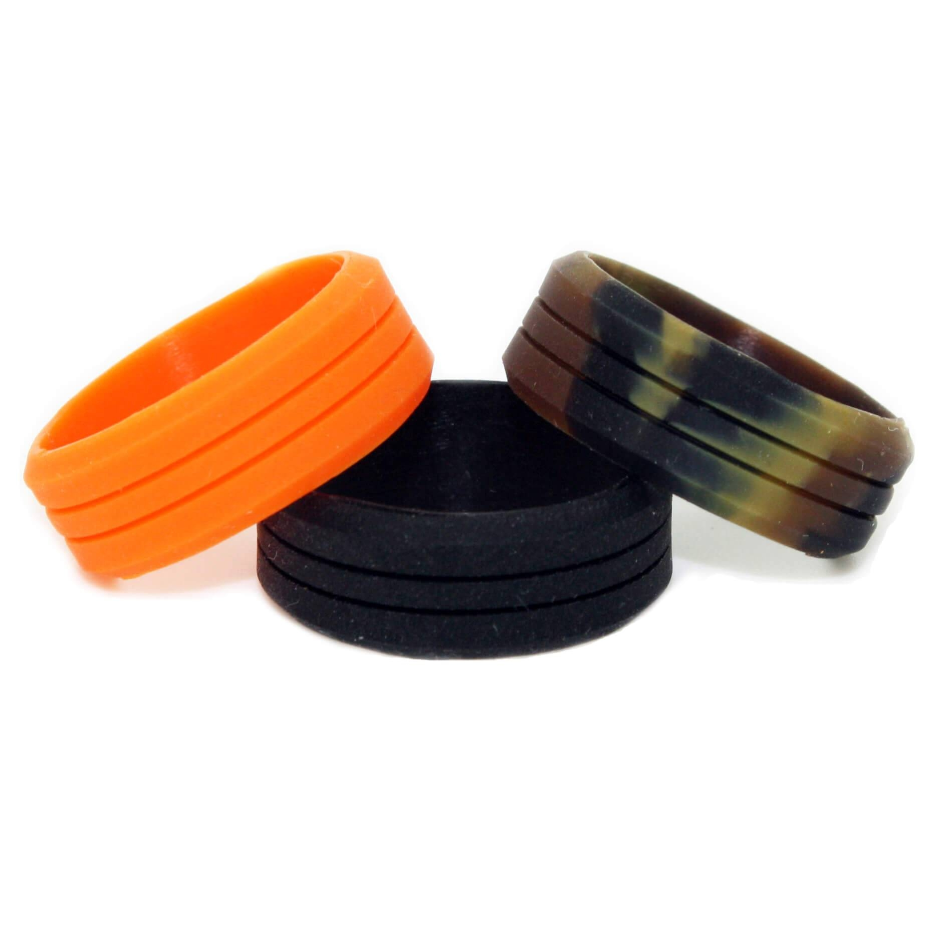 Anti Ring Avulsion Camo Silicone Wedding Ring – 3 Outdoor Ring Pack Intended For Silicone Wedding Bands (View 1 of 15)