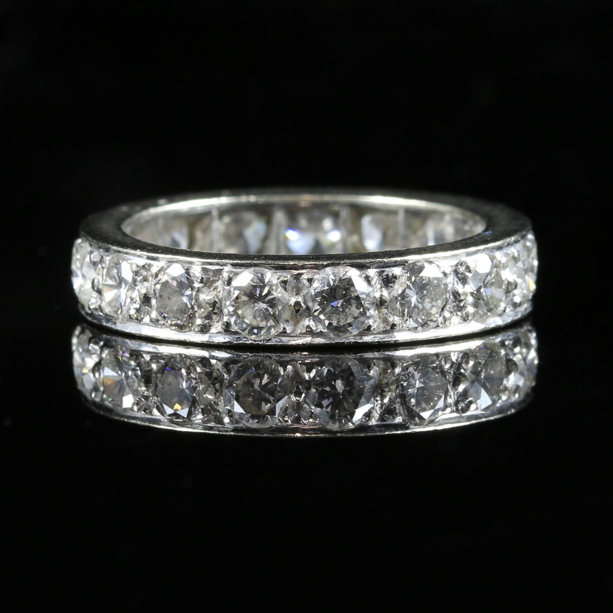 Antique Diamond Eternity Ring 3ct Of Diamonds All Platinum (c With Regard To Wedding Rings With Diamonds All The Way Around (View 1 of 15)