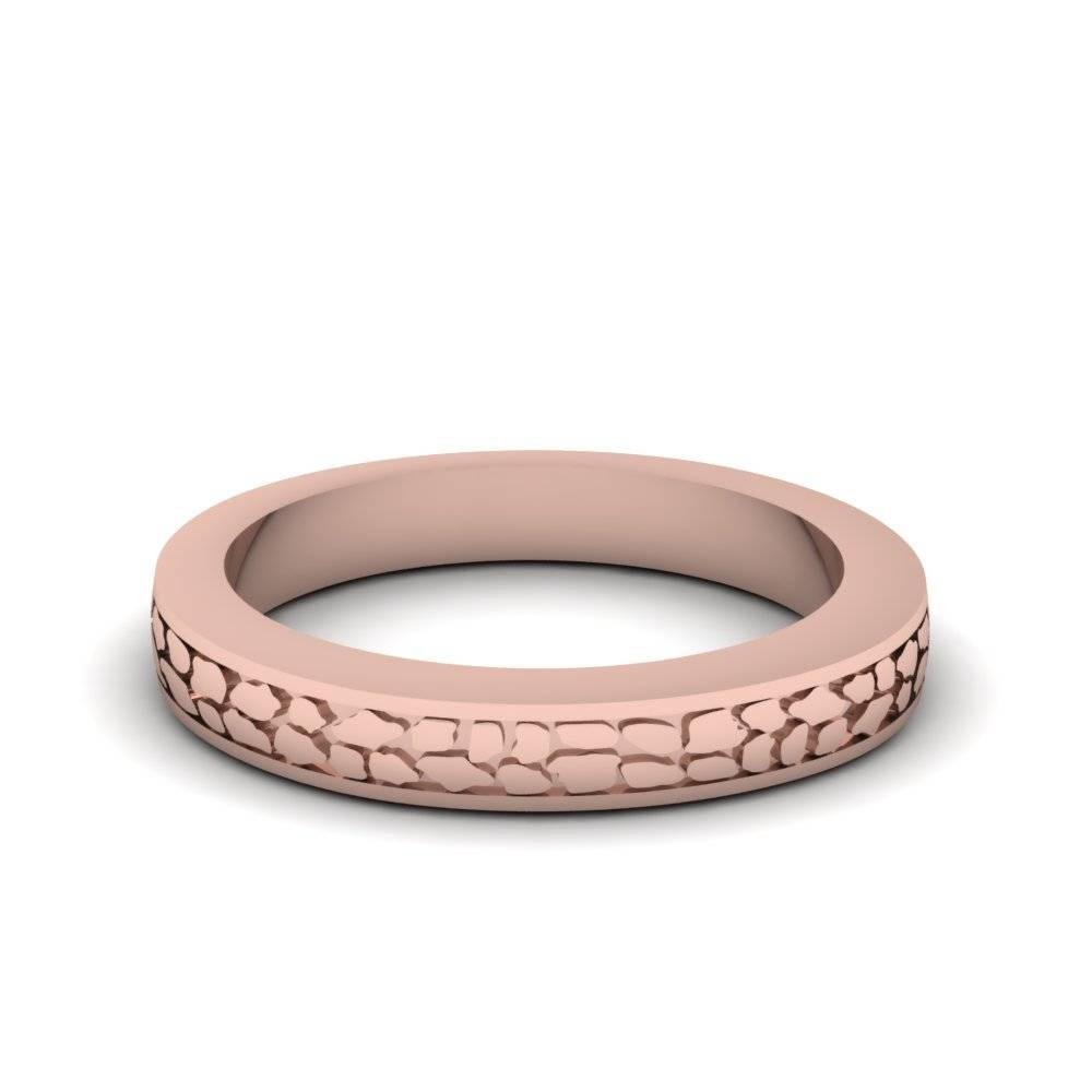 Antique Hand Gold Wedding Made Mens Band In 14K Rose Gold Throughout Antique Men's Wedding Bands (View 4 of 15)