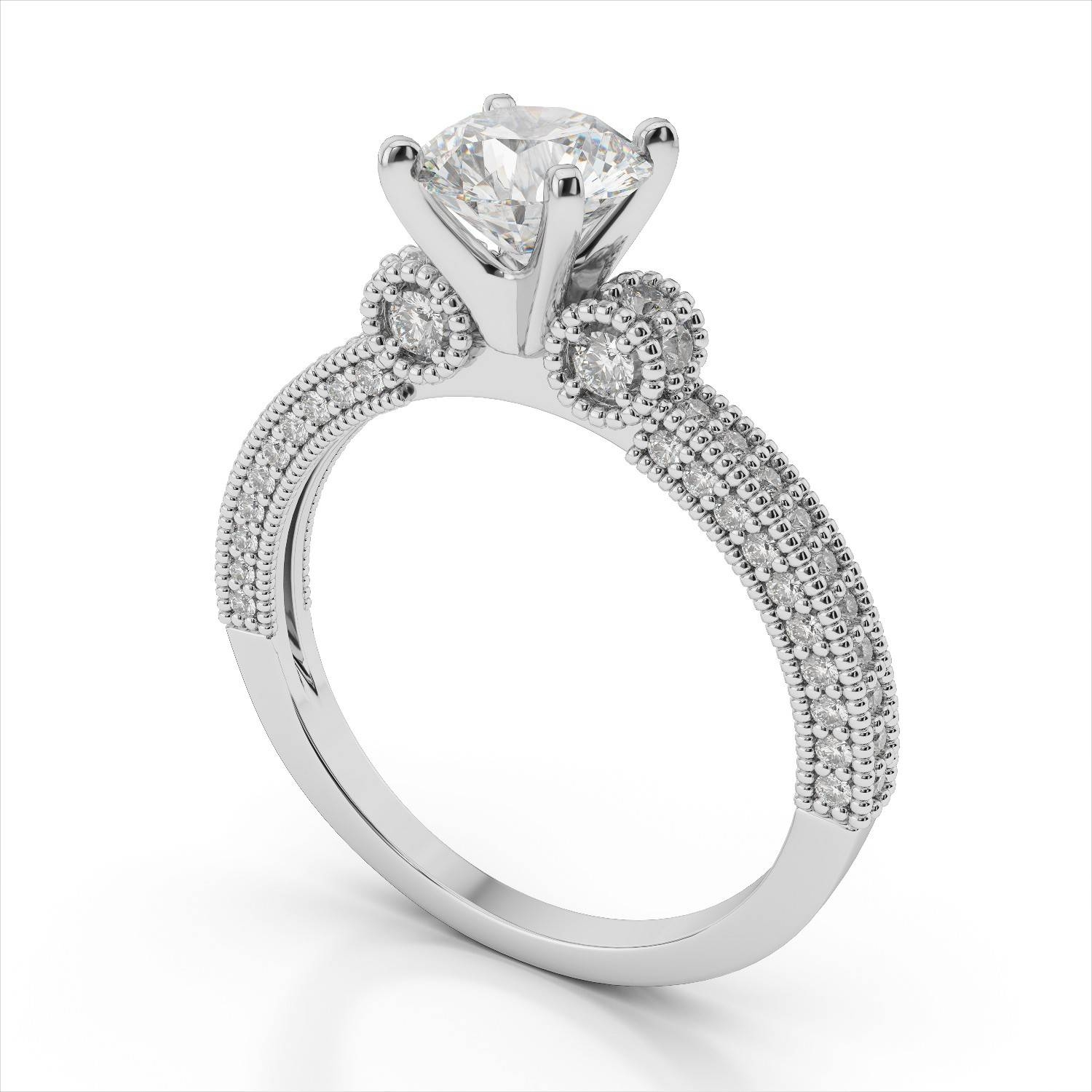 Antique Platinum Engagement Ring Settings | Wedding, Promise Regarding Platinum Wedding Rings Settings (View 5 of 15)