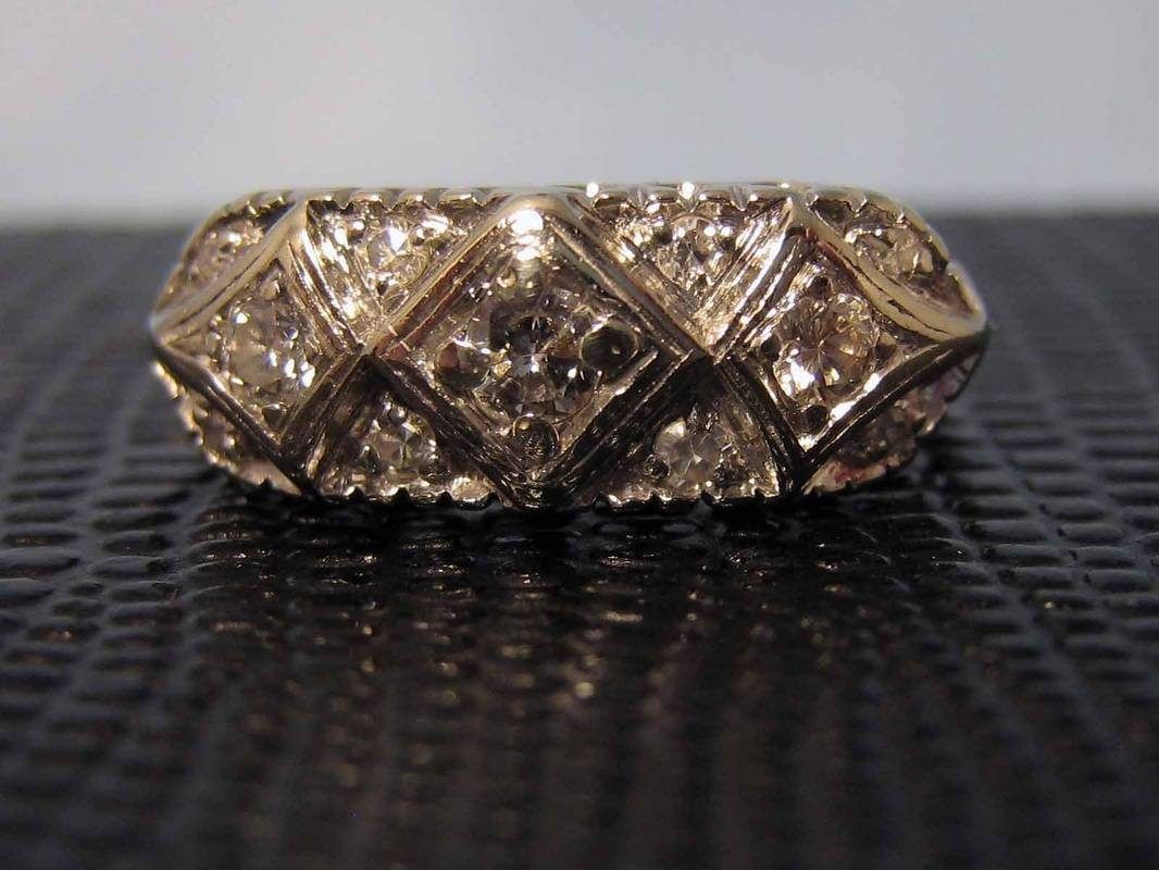 Antique & Vintage Diamond Engagement Rings – Lysbeth Antiques And Within Nashville Wedding Bands (View 5 of 11)