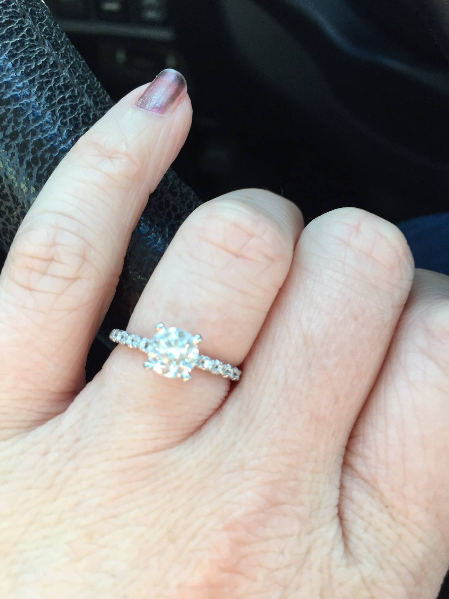 Anyone Have The James Allen Thin Cut French Pave Engagement Ring In French Pave Wedding Bands (View 6 of 15)