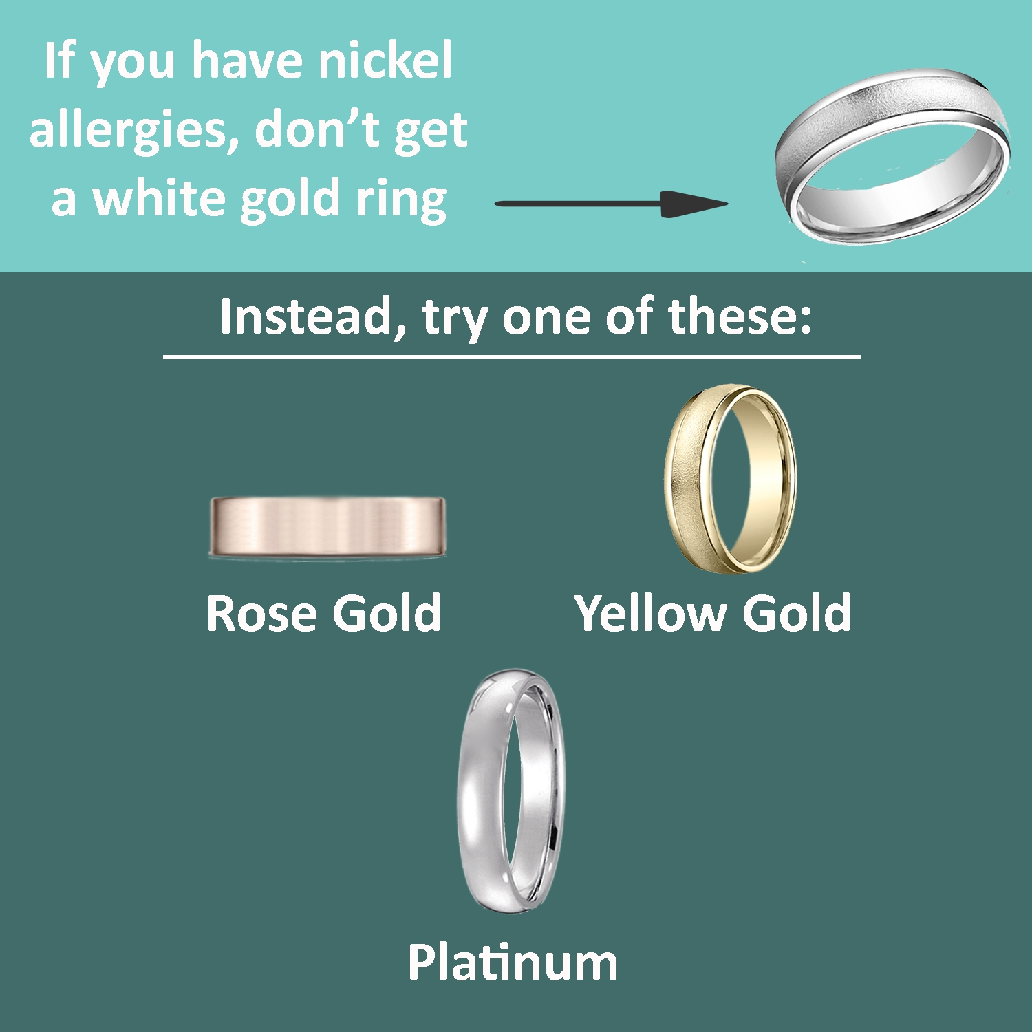Are You Allergic To Your Wedding Ring? Inside Wedding Rings Without Nickel (View 1 of 15)