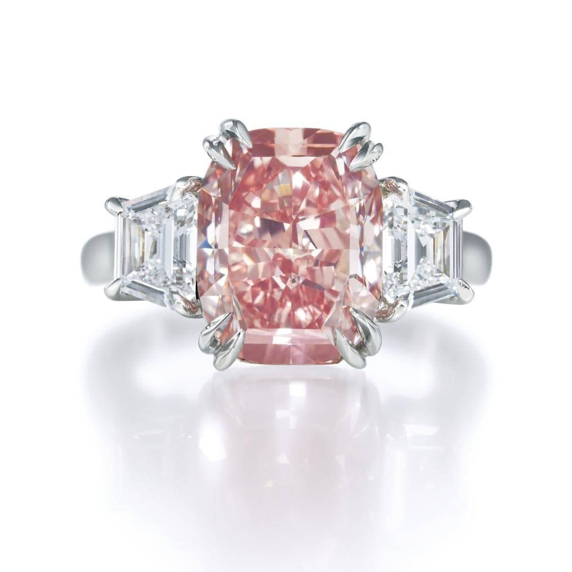 Argyle Pink Diamond Engagement Rings – Pink Diamond Engagement Regarding Feminine Engagement Rings (View 11 of 15)