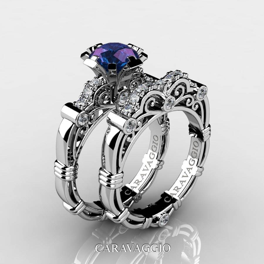 Featured Photo of Alexandrite Wedding Bands