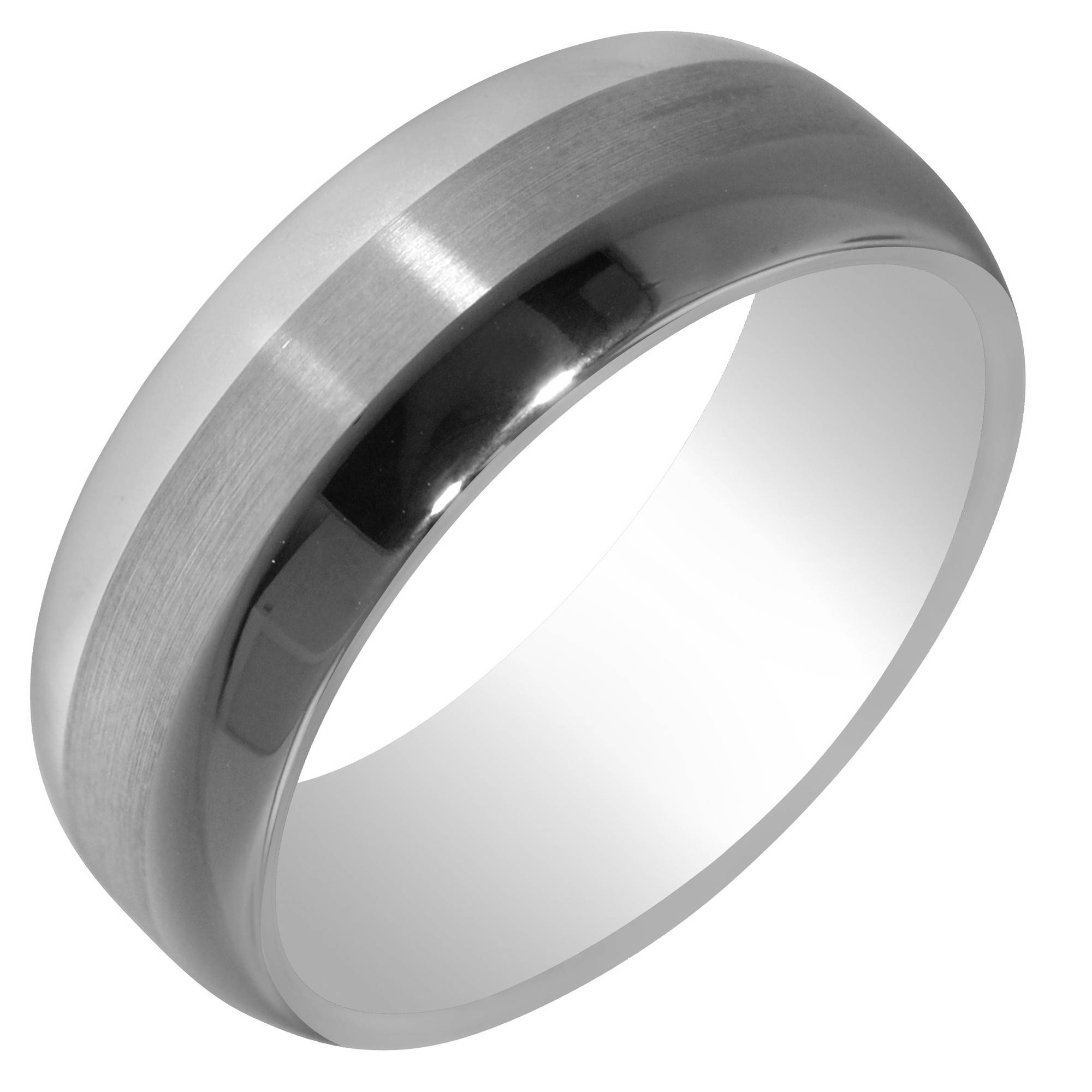 Artcarved Mens Orion Satin Wedding Band In Tungsten Carbide (8mm) Regarding Artcarved Men Wedding Bands (View 5 of 15)