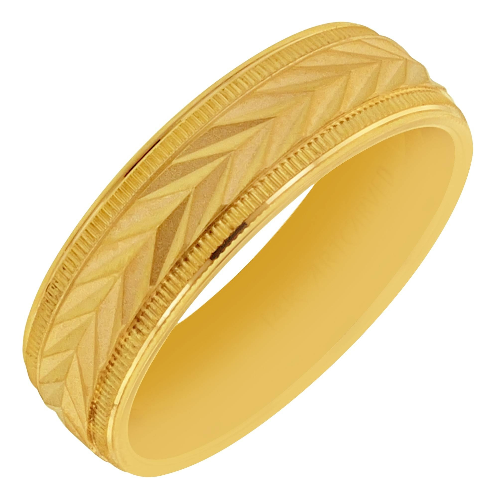 Artcarved Mens Wedding Band In 14kt Yellow Gold ( (View 2 of 15)