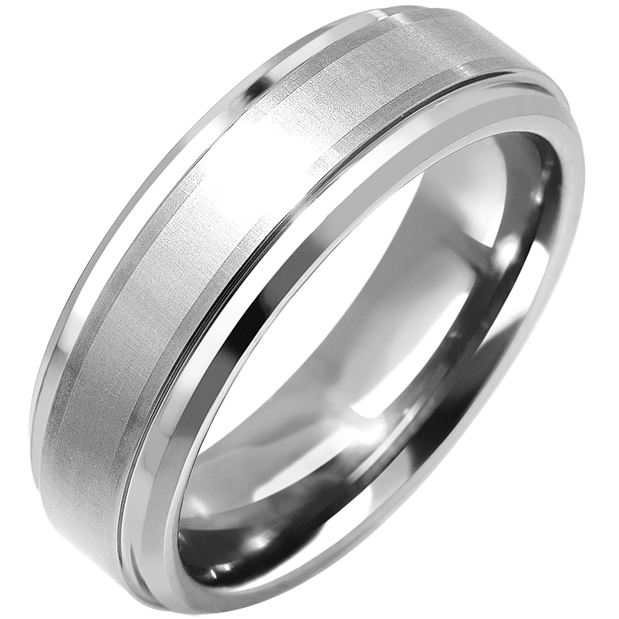 Artcarved Sienna Mens Wedding Band In Tungsten And 18Kt White Gold Intended For 7Mm Tungsten Wedding Bands (View 5 of 15)