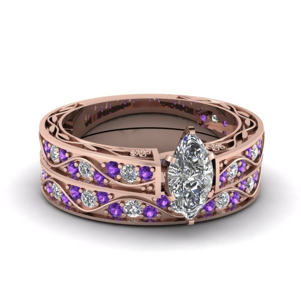 Artistic Purple Engagement Rings At Reasonable Price In Throughout Artistic Wedding Rings (Gallery 14 of 15)