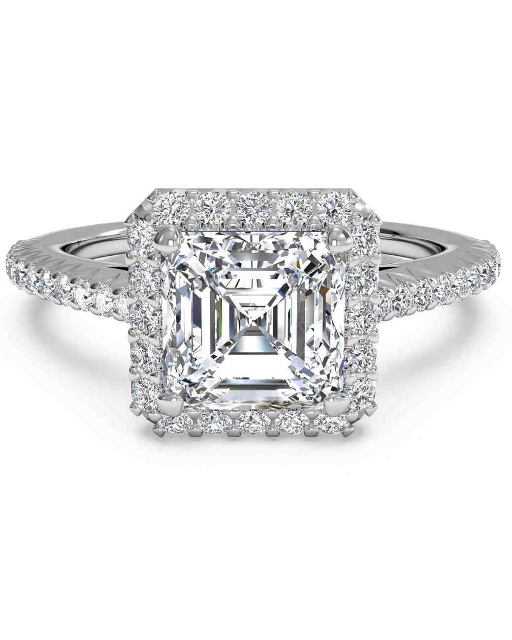Asscher Diamond Rings | Wedding, Promise, Diamond, Engagement Intended For Asscher Cut Wedding Rings (Gallery 11 of 15)