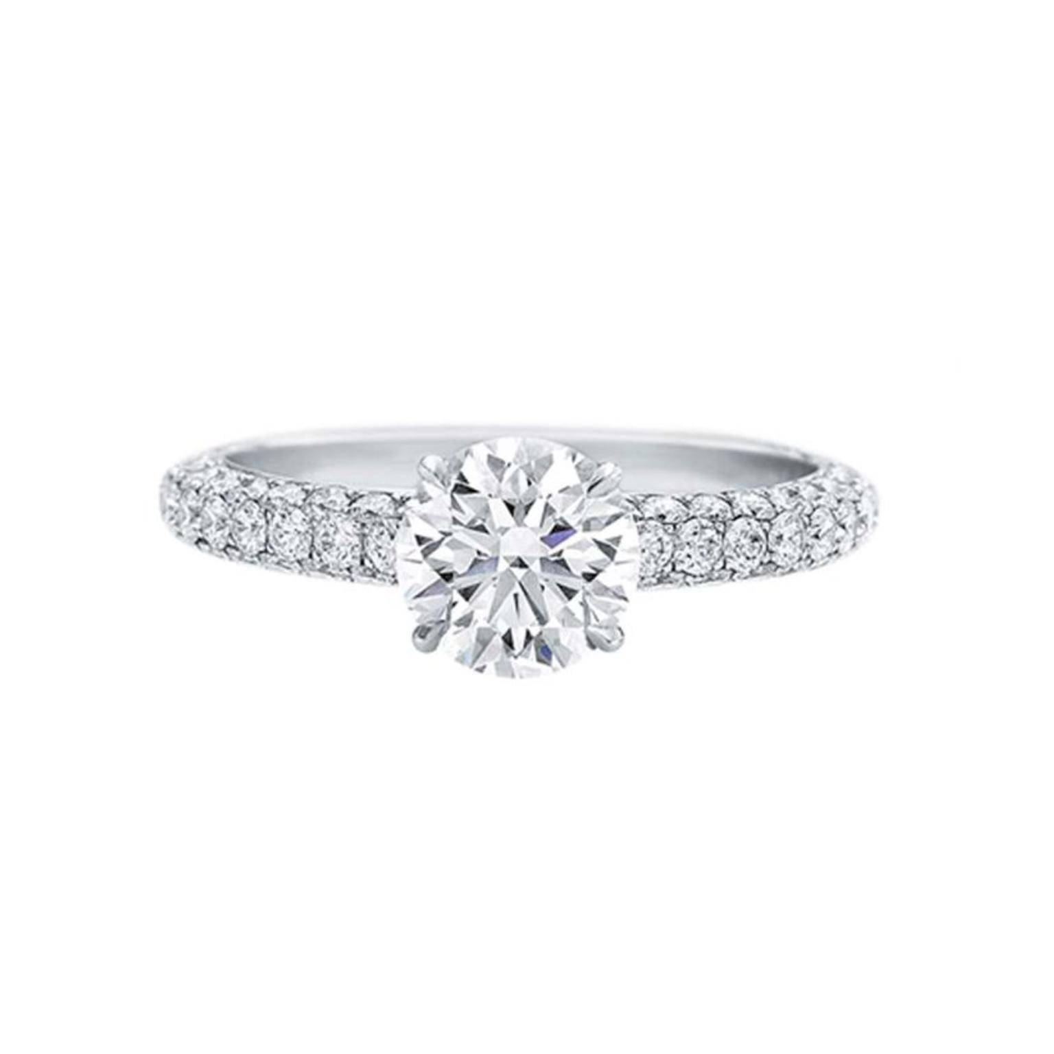 Attraction 1.10 Carat Diamond Engagement Ring | Harry Winston Pertaining To Harry Winston Engagement Rings (Gallery 5 of 15)