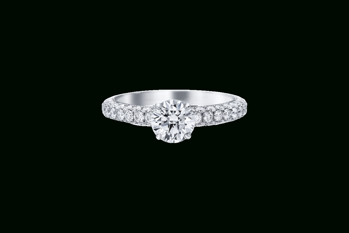 Attraction Diamond Engagement Ring | Harry Winston Inside Harry Winston Engagement Rings (Gallery 2 of 15)