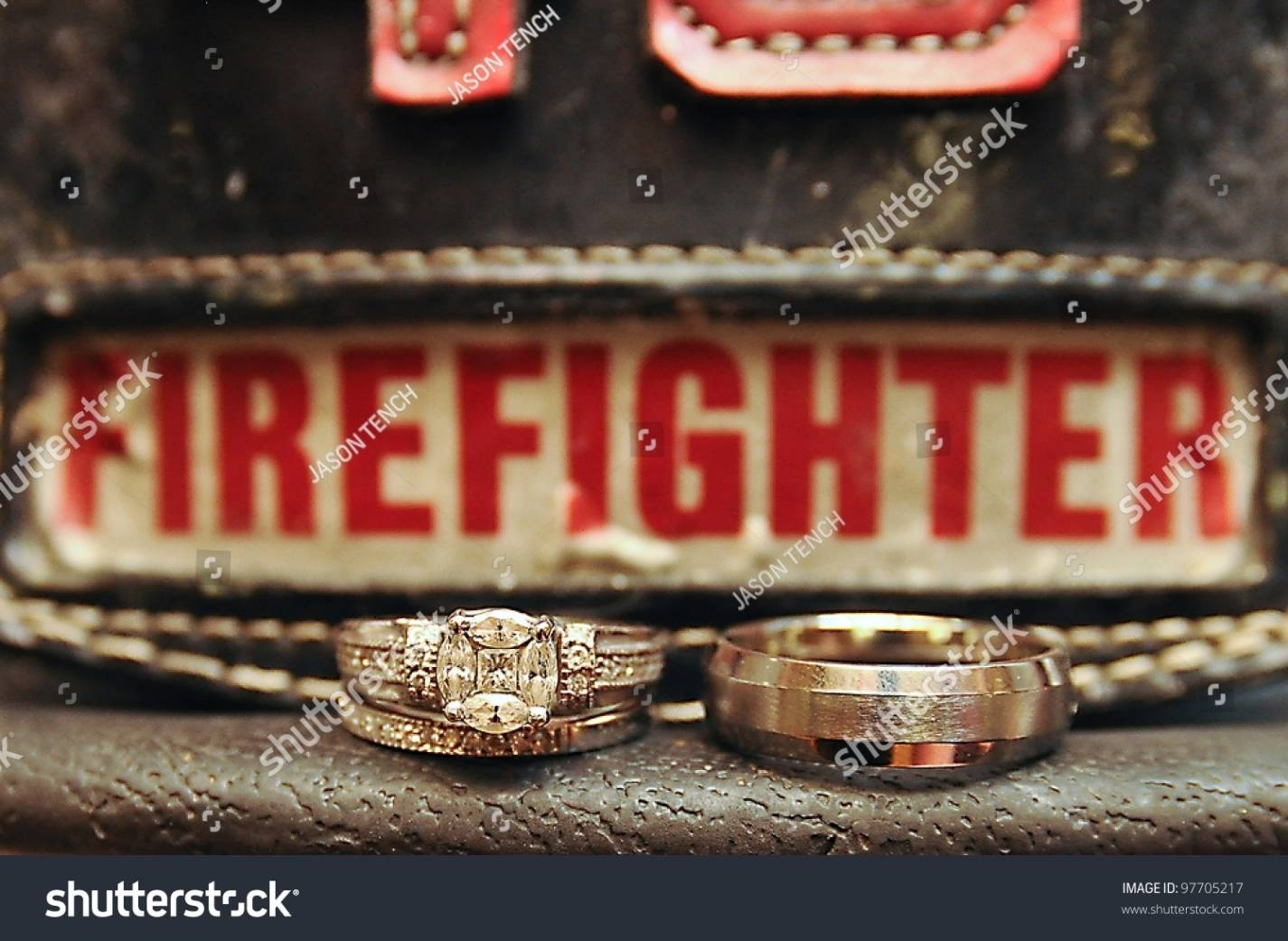 Attractive Wedding Rings: Fire Department Wedding Rings Regarding Inside Firefighter Wedding Bands (Gallery 14 of 15)