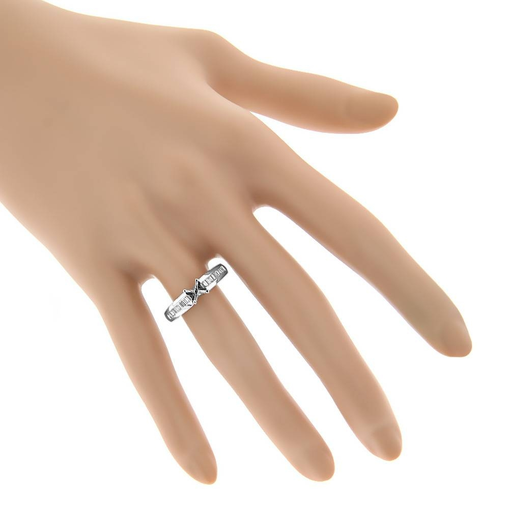 Baguette Diamond Engagement Ring Mounting (View 8 of 15)